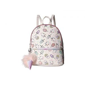 Junk Food Print Mini Backpack White