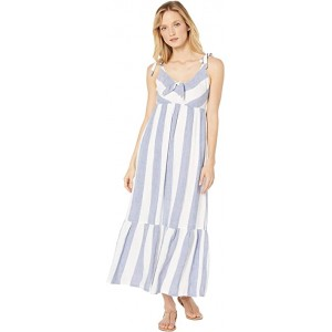 Rugby Beach Stripe Maxi Cover-Up White