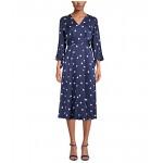 Anne Klein Dolman Sleeve Dot Dress Distant Mountain/Anne White