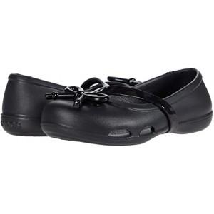 Crocs Kids Lina Bow Charm Flat (Toddleru002FLittle Kid) Black