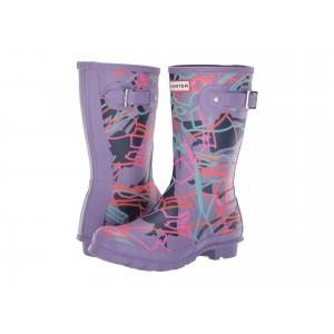 Disney Mary Poppins Original Short Rain Boots Parma Violet Bright Camo Print