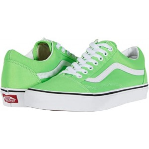 Vans Old Skool Neon Green Gecko/True White