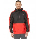 PUMA Pivot 1u002F2 Zip Jacket Puma Black/High Risk Red