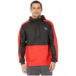 PUMA Pivot 1u002F2 Zip Jacket Puma Black/High Risk Red