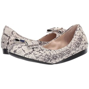 Cole Haan G.Os Tali Bow Ballet Natural Python Print/Leather/Black Demi Wedge