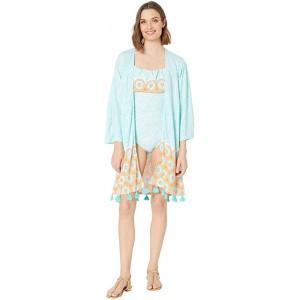 Aqua Citrus Coverluxe Kimono Cover-Up Mint Multi