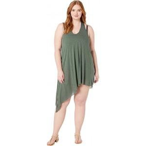 Plus Size Breezy Basics Twist Back Dress Cover-Up Basil