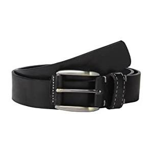 Perc Stitch Detail Leather Belt