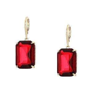 Leverback Stone Drop Earrings