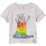 Short Sleeve Tee with Rainbow Monster (Infant)