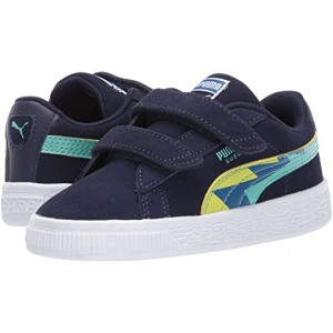 Puma Kids Suede Classic Lightning V (Toddler) Peacoat Blue/Turquoise