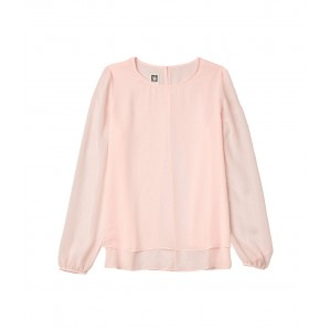 Double Layer Blouse Elastic Cuff Cherry Blossom
