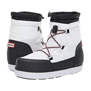 Original Short Quilted Snow Boots White/Black