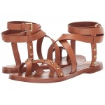 Ravello Studded Ankle-Wrap Sandal Tan