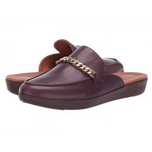 Serence Chain Slippers Deep Plum