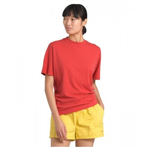 The North Face Woodside Hemp Short Sleeve Top Sunbaked Red