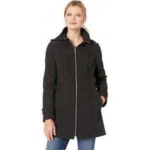 Zip Front Softshell Jacket Black