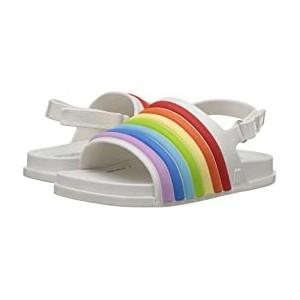 Mini Beach Slide Sandal Rainbow (Toddler/Little Kid) White Colorful