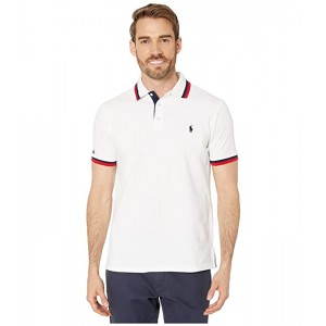 Polo Ralph Lauren Slim Fit Americana Mesh Polo White Multi