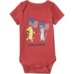 Dog and Cat Flags Crusher Bodysuit (Infant)