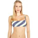 Tory Burch Swimwear Printed Square Top Field Day Stripe