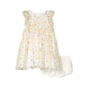 Sleeveless Splash Flowers Silk Dress (Infant)