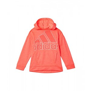 adidas Kids Tunic Fleece Hooded Pullover (Toddleru002FLittle Kids) Bright Pink
