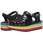 Melissa Shoes Possession Platform Stripes AD Black