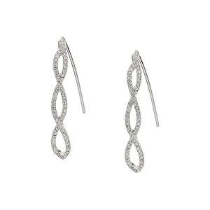 Pave Threader Earrings