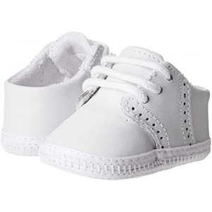 Baby Deer Leather Saddle Oxford - Wiggle (Infant) White