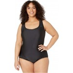 Nike Plus Size Essential Cross-Back One-Piece Black