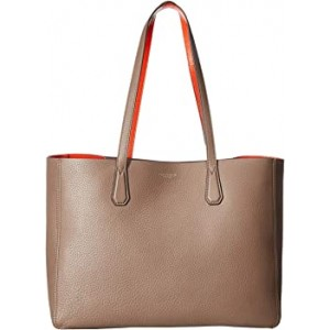 Perry Tote Silver Maple/Tangerine