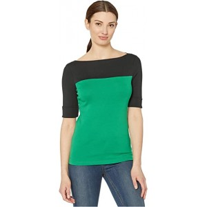 Two-Tone Boatneck Top