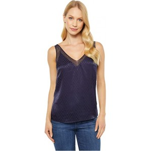 Piiaa Cami Top with Contrast Detail Navy