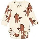 Unicorns All Over Printed Long Sleeve Bodysuit (Infant)