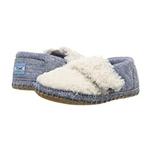 Crib Alpargata (Infant/Toddler) Natural Faux Shearling/Chambray