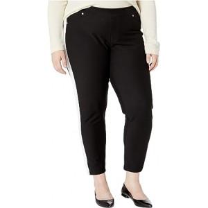Plus Size Stripe Pull-On Leggings