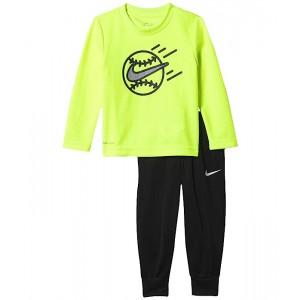 Nike Kids Dri-FIT Thermal T-Shirt and Pants Two-Piece Set (Toddler) Black