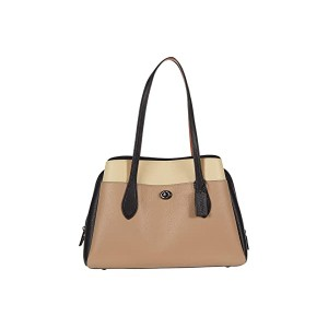 Color-Block Leather Lora Carryall