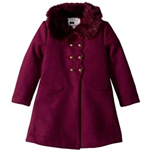 Faux Fur Double Breasted Coat (Toddler/Little Kids/Big Kids)