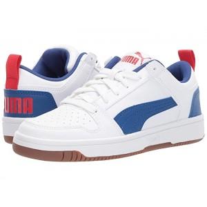 Rebound Layup Lo Sl (Big Kid) Puma White/Galaxy Blue/High Risk Red