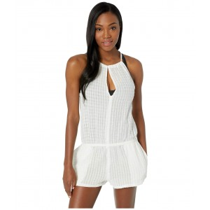 Keyhole Romper Cover-Up White