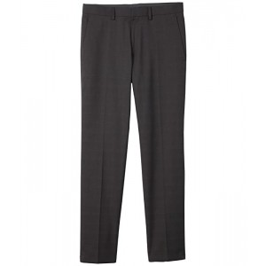 Stretch Tonal Plaid Slim Fit Flat Front Flex Waistband Dress Pants