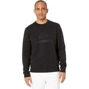 Lacoste Long Sleeve Non Brushed Fleece Graphic Anim Sweatshirt Classic Black
