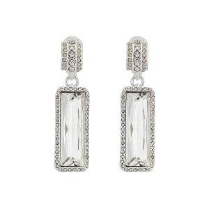 Clip Stone Drop Earrings