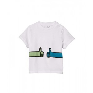 Stella McCartney Kids Short Sleeve Tee with Alphabet Print (Infant) White