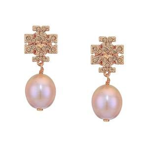Kira Pave Pearl Drop Earrings