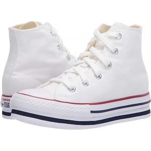 Converse Kids Chuck Taylor All Star Platform EVA HI (Little Kidu002FBig Kid) White/Midnght Navy/Garnet
