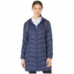 35 Chevron Hooded Packable Navy