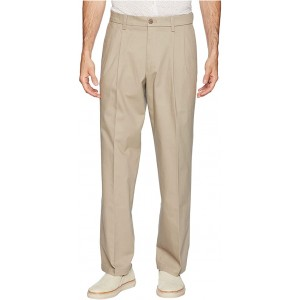 Relaxed Fit Signature Khaki Lux Cotton Stretch Pants D4 - Pleated